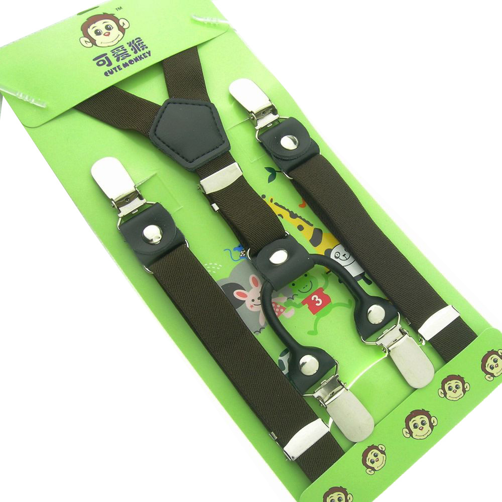 The new boutique imported materials head baby child children clip strap sling clip clip clip four boys and girls suspenders clip