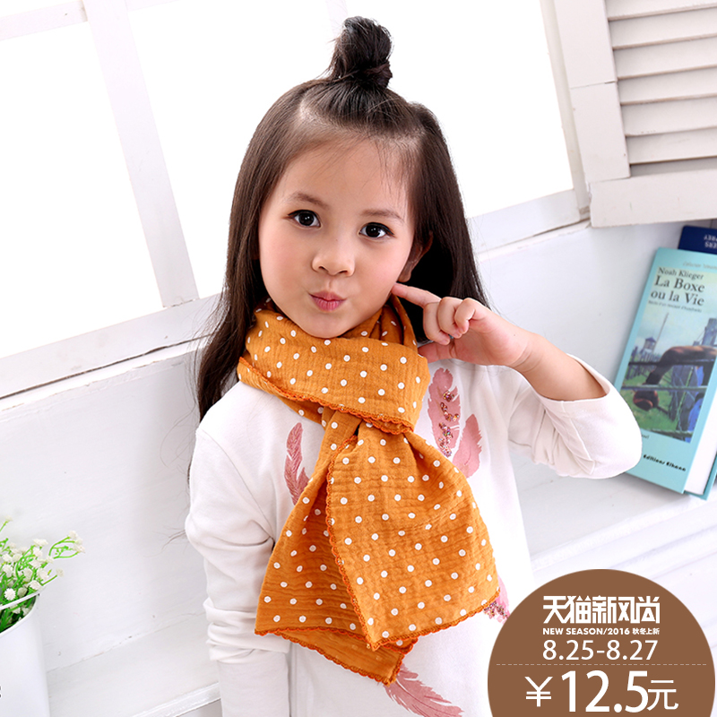 The new children's fall and winter scarves korea lovely four seasons cotton baby spring fall and winter influx of korean boys and girls