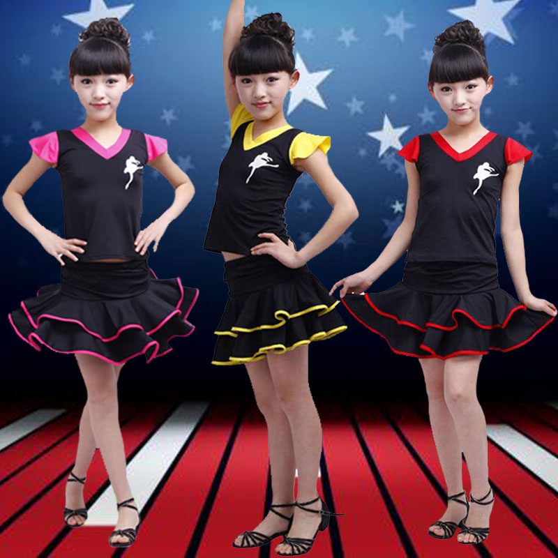 The new children's sequined costumes performance clothing for boys and girls and young children modern dance jazz dance clothes cheerleading dance costumes