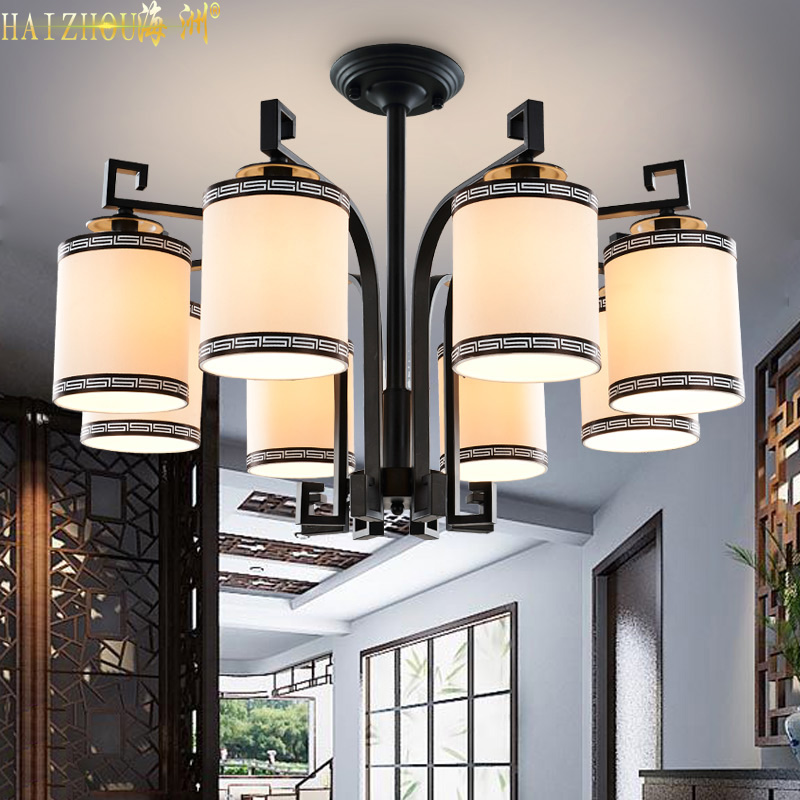 The new chinese modern living room chandelier wrought iron chandelier lamp bedroom lamp restaurant teahouse feng in imitation of classical lamps
