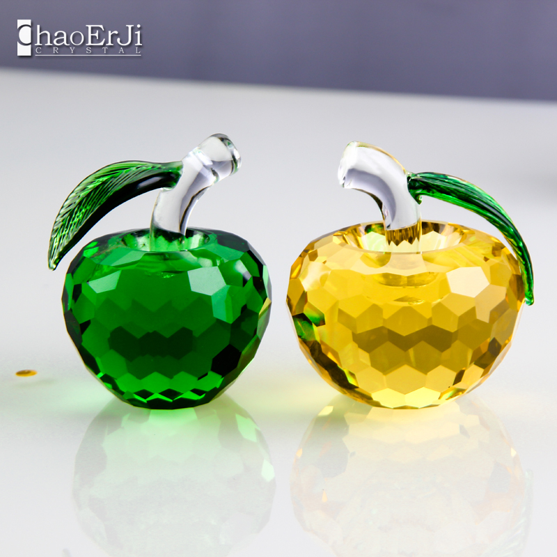 The new crystal faceted crystal apple christmas eve ornaments home accessories to send girls friends girlfriends share can be customized