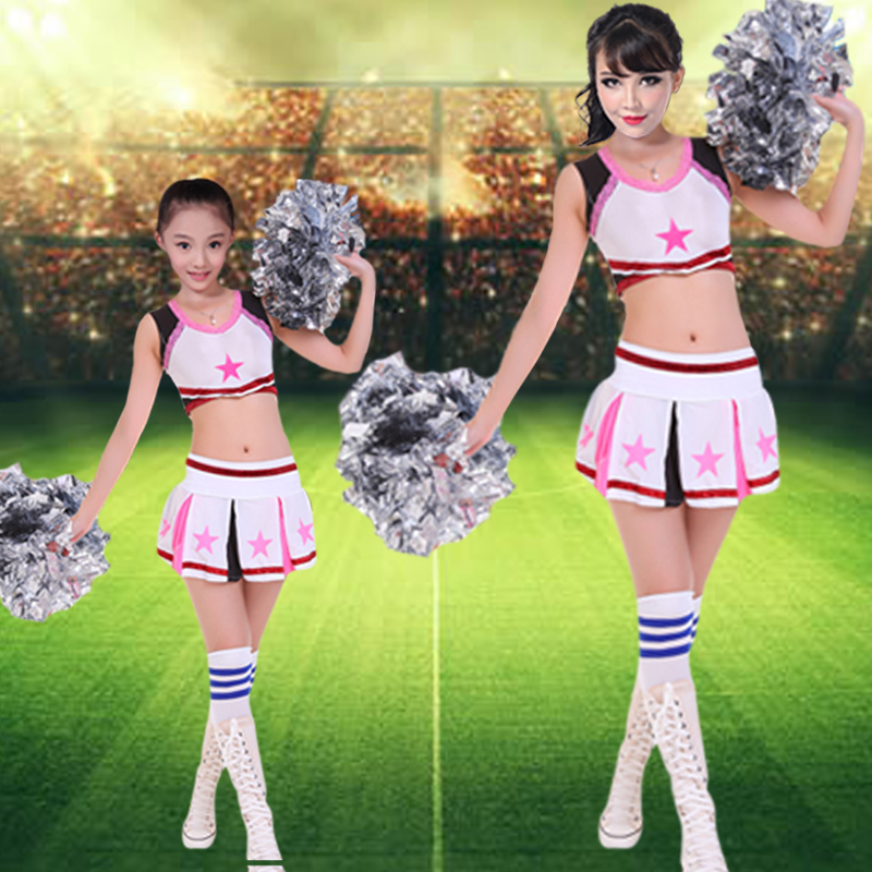 The new dance ladieswear children adult costumes performance clothing cheerleaders cheerleading apparel clothing costumes stage costumes