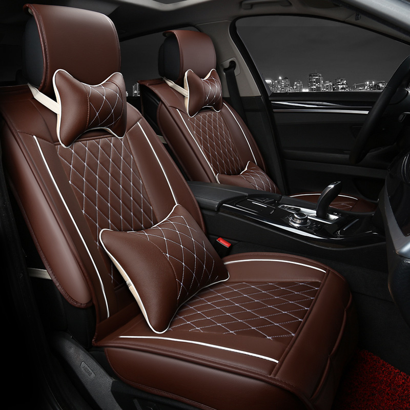 The new four seasons universal seat covers the whole package leather car seat cushion ice silk cushions 3d automotive supplies