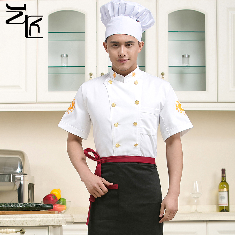 The new hotel chef clothing short sleeve chef service hotel chef overalls summer restaurant chef service hotel chef clothing summer