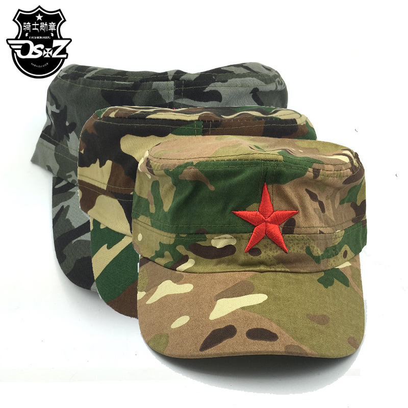 The new knight medal θ0 dudette cap neutral size fits all adjustable sports pure cotton baby spring and autumn camouflage cap