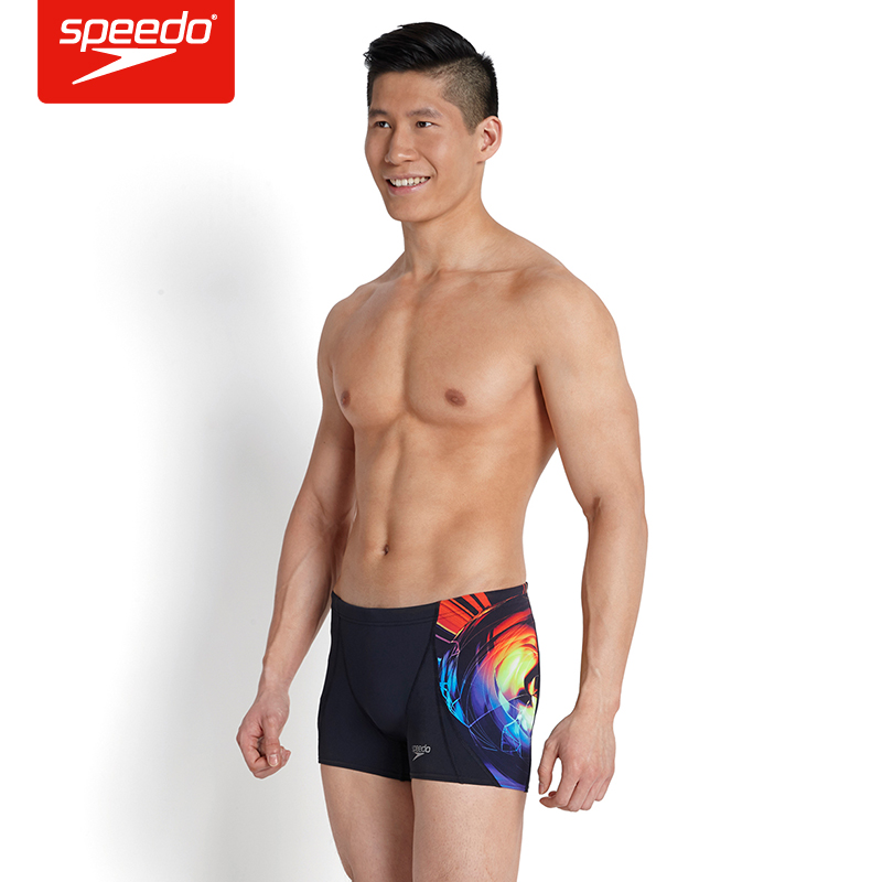The new men's swimming trunks speedo professional wicking wear and big yards sexy warm springs swimming trunks boxer swim trunks swimming trunks