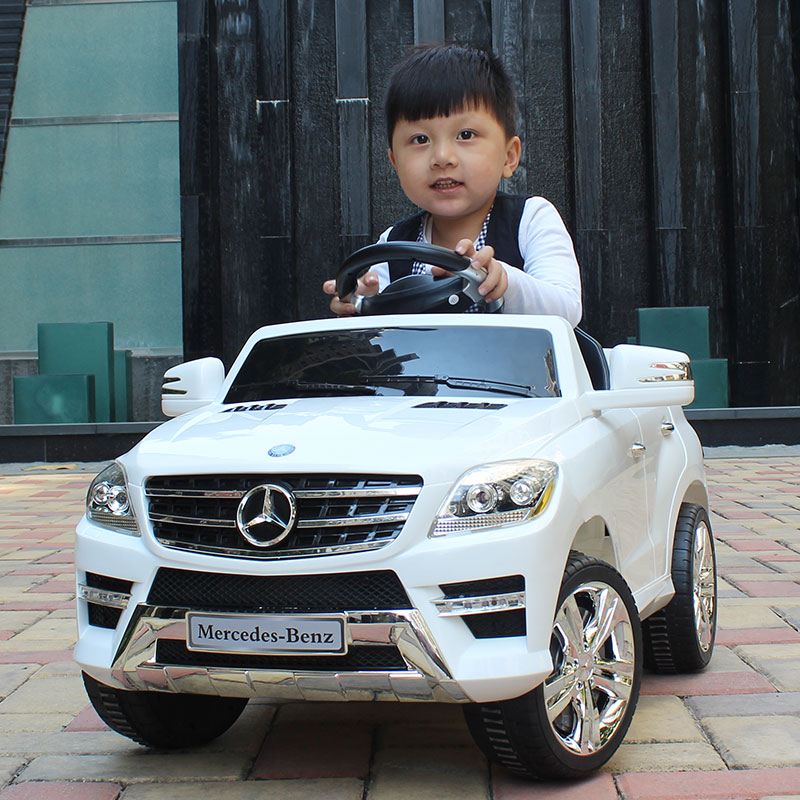 The new mercedes qunxing children electric car four pairs of drive remote control car baby child can sit car battery car