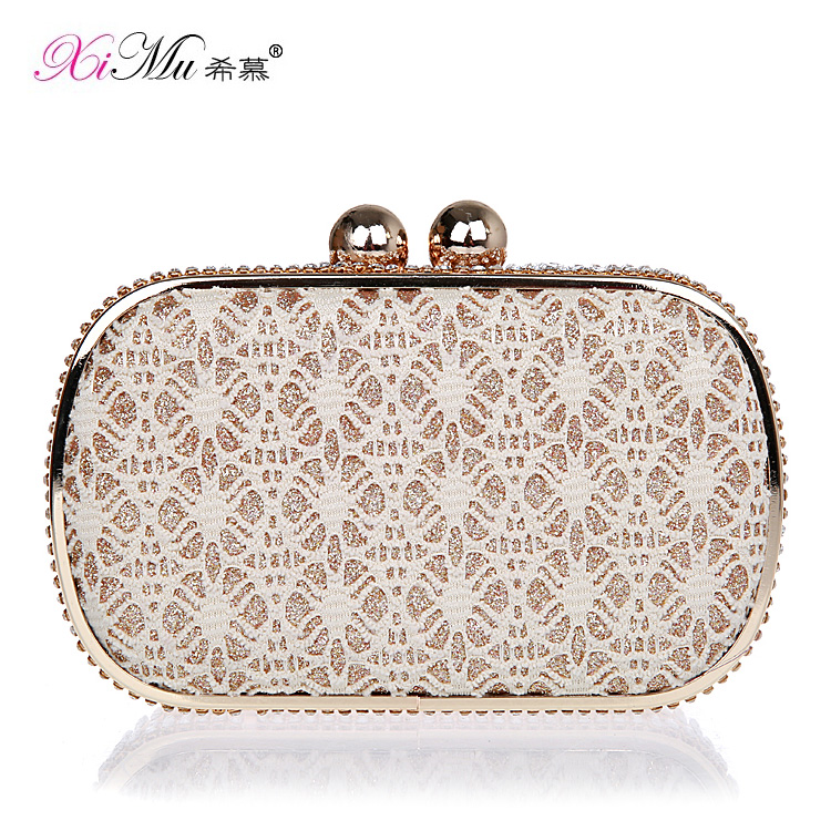 The new mini lace diamond clutch handbag bag bride bag dress bag banquet bag evening bag fashion female bag
