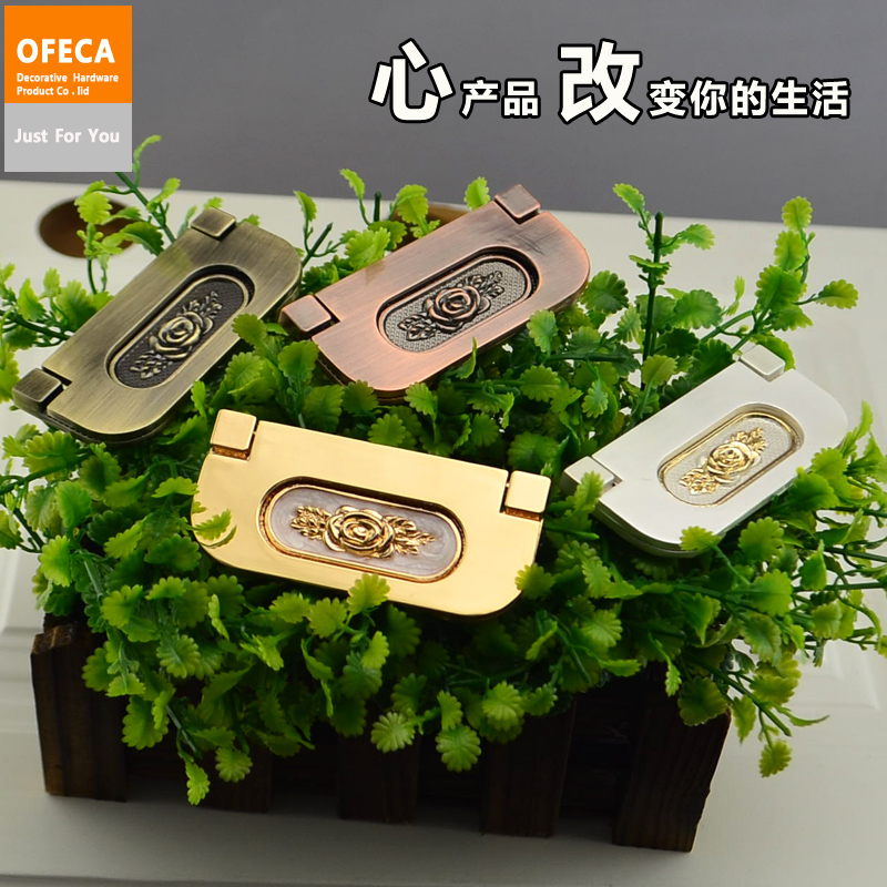 The new modern minimalist concealed drawer handle european antique copper handle cabinet handle amber without trenching