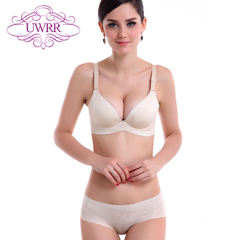 The new piece seamless uwrr ms. waist underwear thick suit small chest have rims thin section bra set