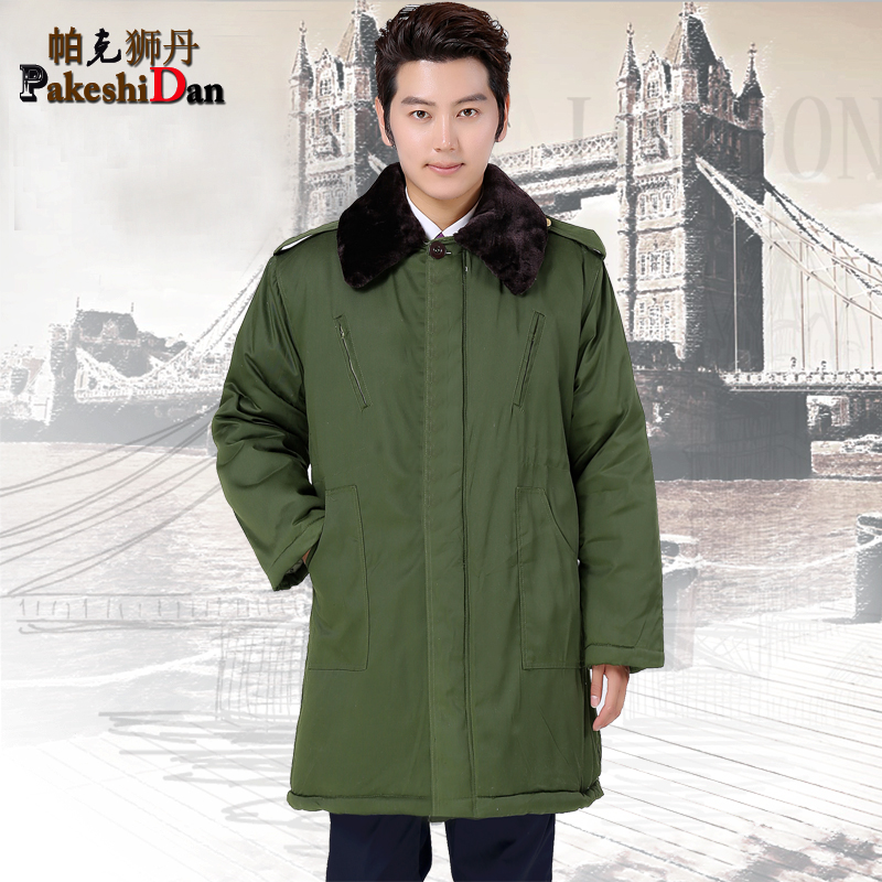 The new security service security military coat military coat cotton coat thick coat army green coat overalls military coat
