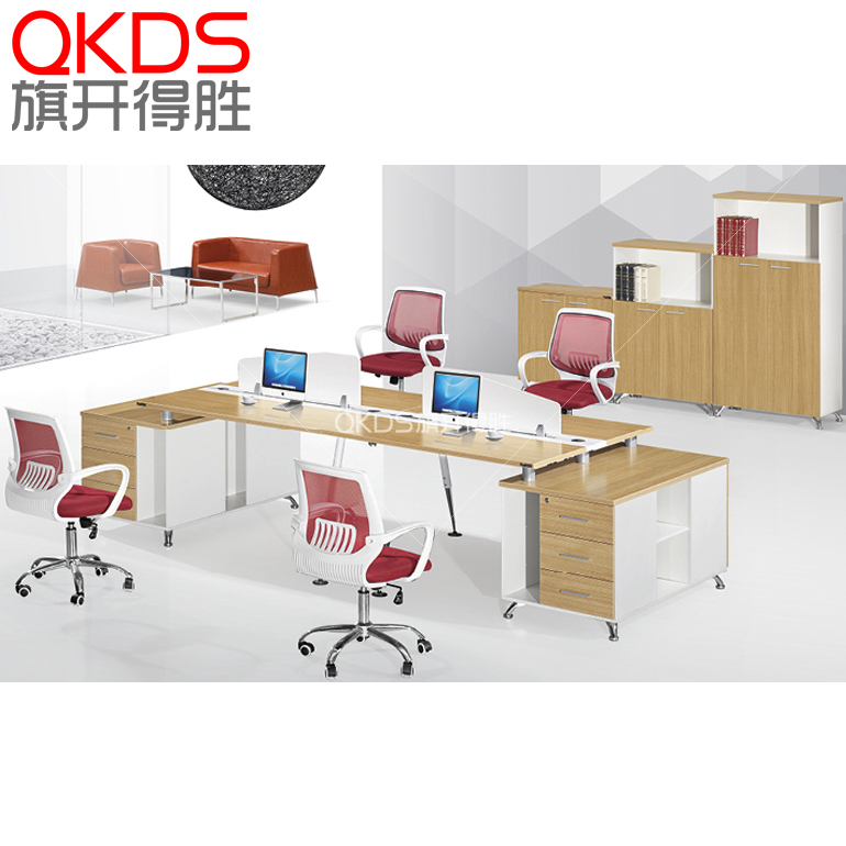 The new shanghai office furniture office desk screens simple and stylish desk desk staff desk staff 4 people group in