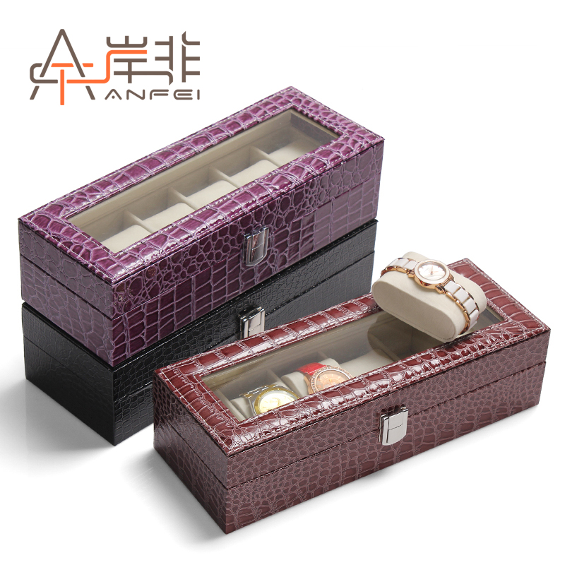 The other side of the non exquisite glass skylight 6 watch box watch collection box storage boyfriend birthday gift