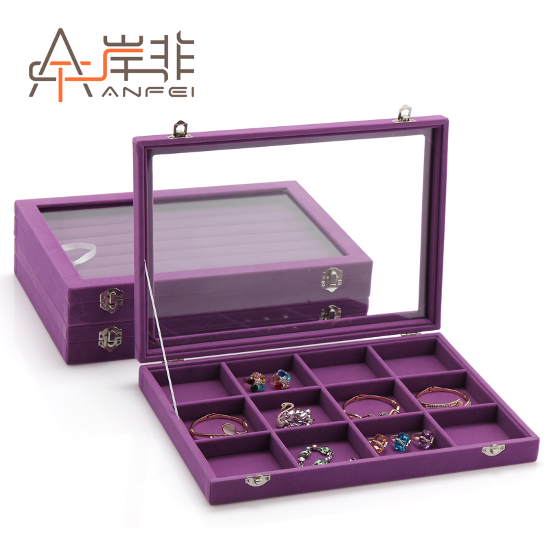 The other side of the non quality suede jewelry box necklace bracelet ring earrings jewelry display storage box