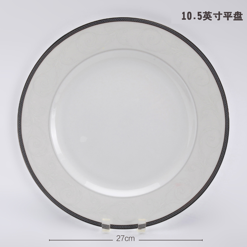 The princess diaries longchang bone china bone china plate round shades of household dish soup plate dinner plate fruit plate fish dish