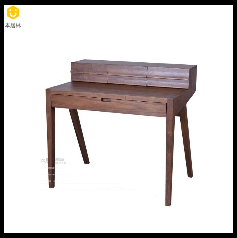 The ranks of lin scandinavian minimalist black walnut wood color wood custom wood dresser dresser dressing table dressing table desk custom