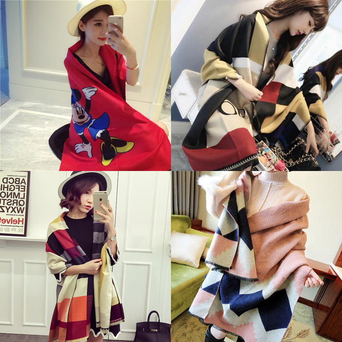 The same paragraph big fall and winter nap pros and cons of digital cartoon printed cashmere shawl scarf dual female