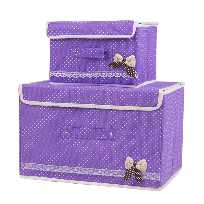 The size of 2 sets of clothes storage box storage box clothing storage box folding box finishing cabernet box storage bags post