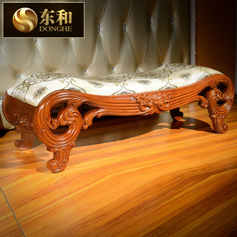 The subcommission on american wood bed end stool bedside stool stool bench european fashion fabric ottoman bed end stool stool neoclassical