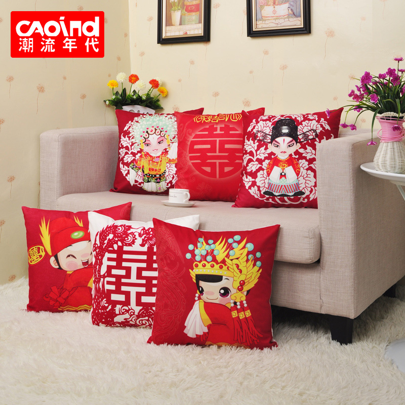 The trend of the times festive wedding gift pillow cushion sofa siesta waist custom photo christmas new year's day gift