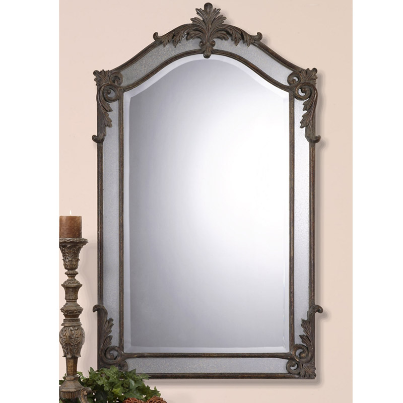 The united states uttermost genuine european classical rectangular living room entrance decorative mirror wall mirror hanging mirror hanging mirror bathroom