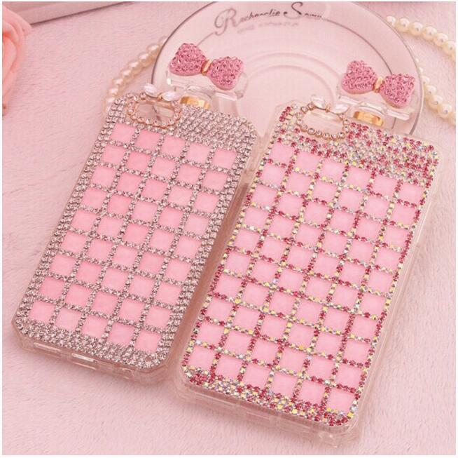 The whole family together 6splus apple iphone6plus phone sets diamond perfume bottle protective sleeve silicone hand chassis