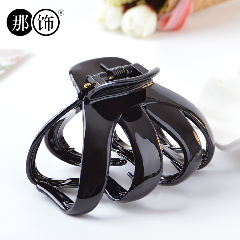 Then decorative acrylic bathtub large gripper plate hairpin hairpin korean fashion temperament popular claw clip hairpin female