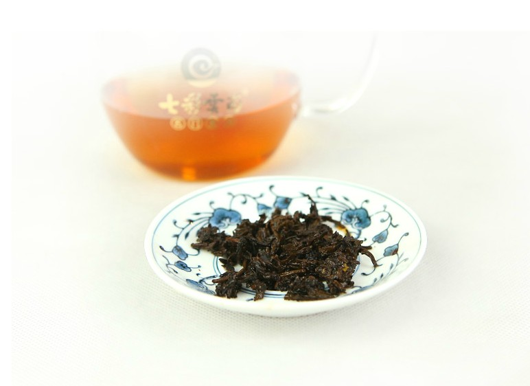 There unfinished turmeric tea series of tea colorful yunnan pu'er tea pu'er tea cooked tea loose tea 20 bags