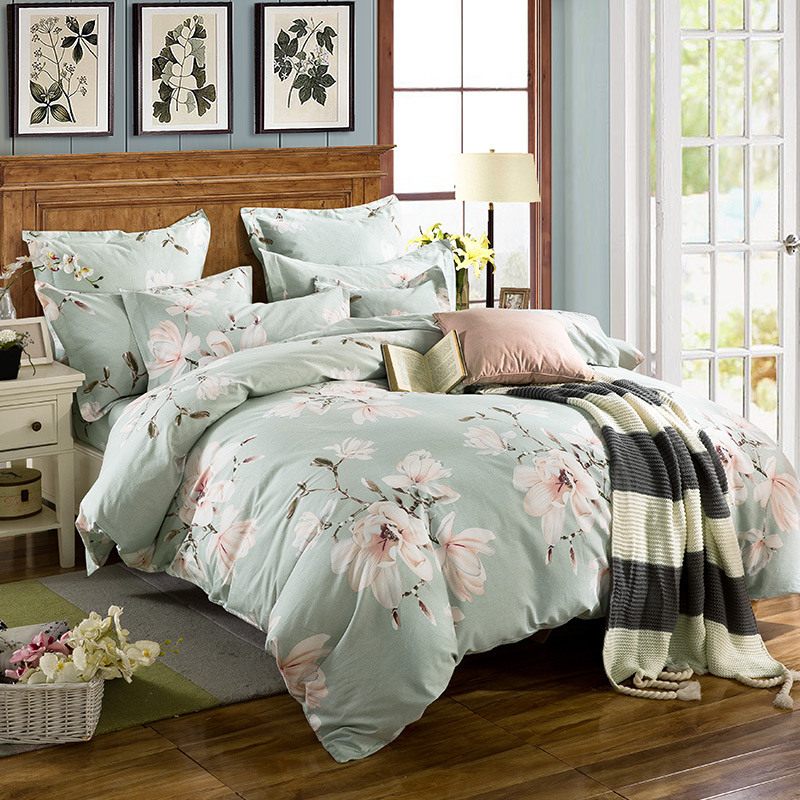 Thick brushed cotton denim cotton m double bed dormitory beds idyllic small fresh three sets
