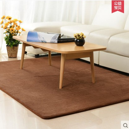 Thick coral velvet carpet living room coffee table carpet bedroom bed blanket paved tatami