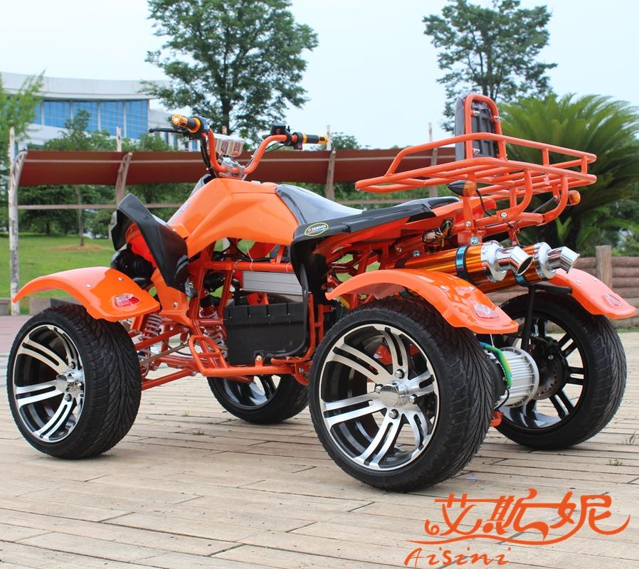 Thick frame power electric suv atv big bull mars 4 wheel disc brakes 14 inch road electric car