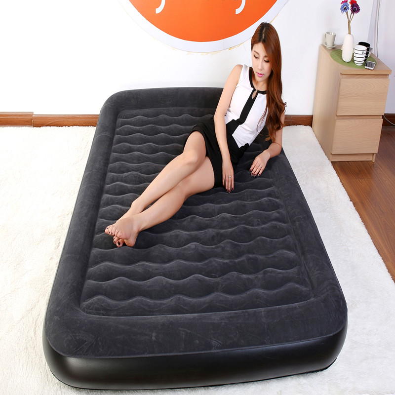 Thick inflatable air bed thickening increased household outdoor portable air bed inflatable mattress single bed