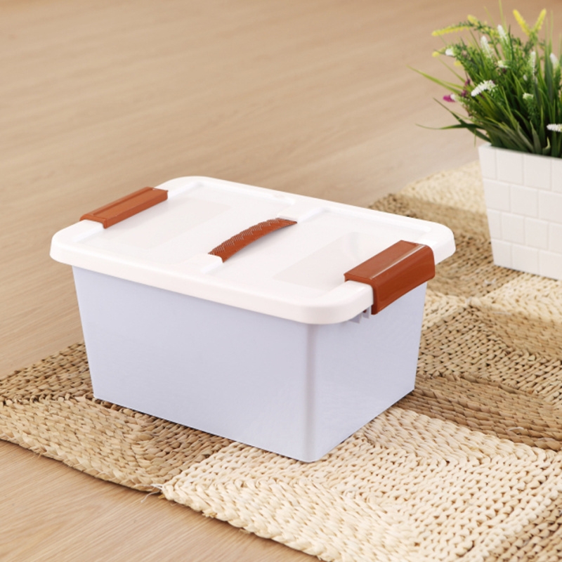 Thick plastic color sorting box storage box small suitcase storage box storage box