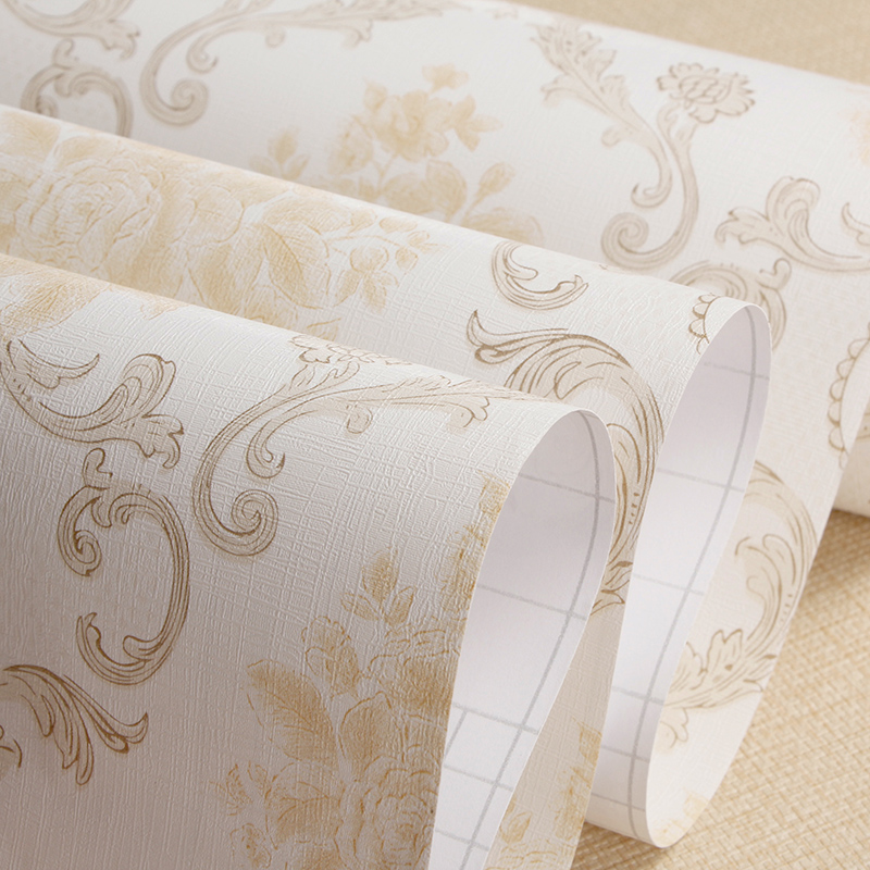 Thick pvc self adhesive wall stickers european pastoral bedroom living room wallpaper adhesive wallpaper thick waterproof membrane color equipment