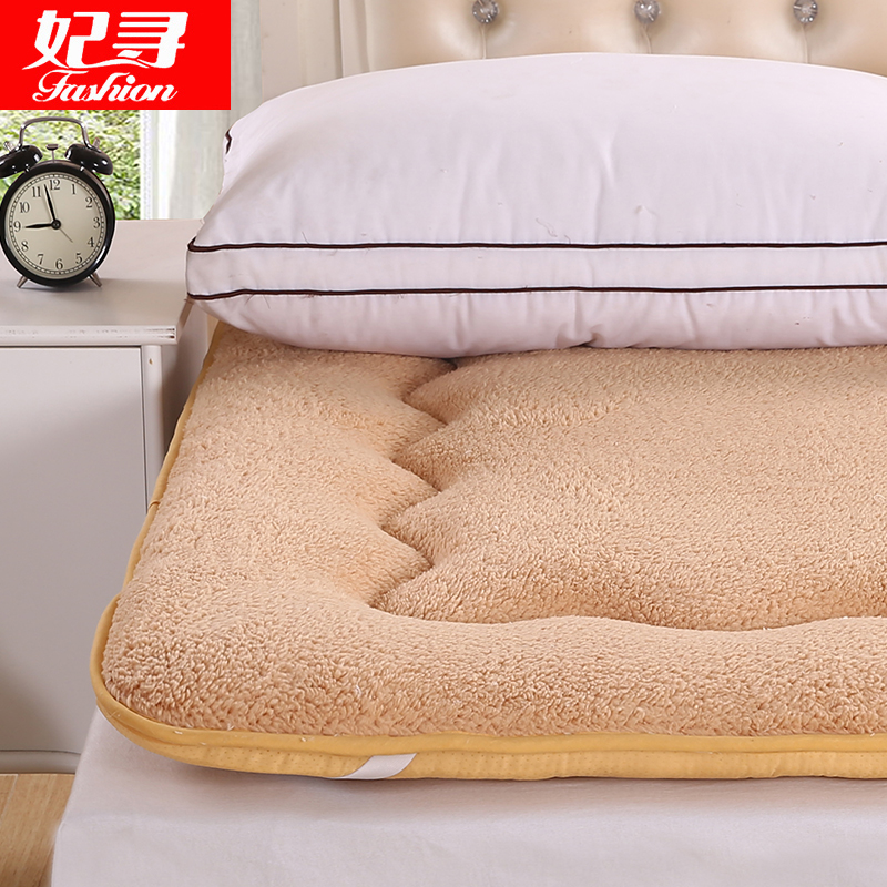 Thick sherpa tatami mattress pad is single double dormitories sponge mattress 1.5m1.8 m bed