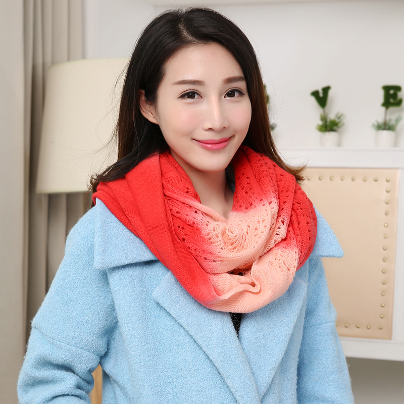 Thick warm winter scarf female autumn korean version of the influx of students in the spring and autumn and winter korea knitting wool scarf hedging