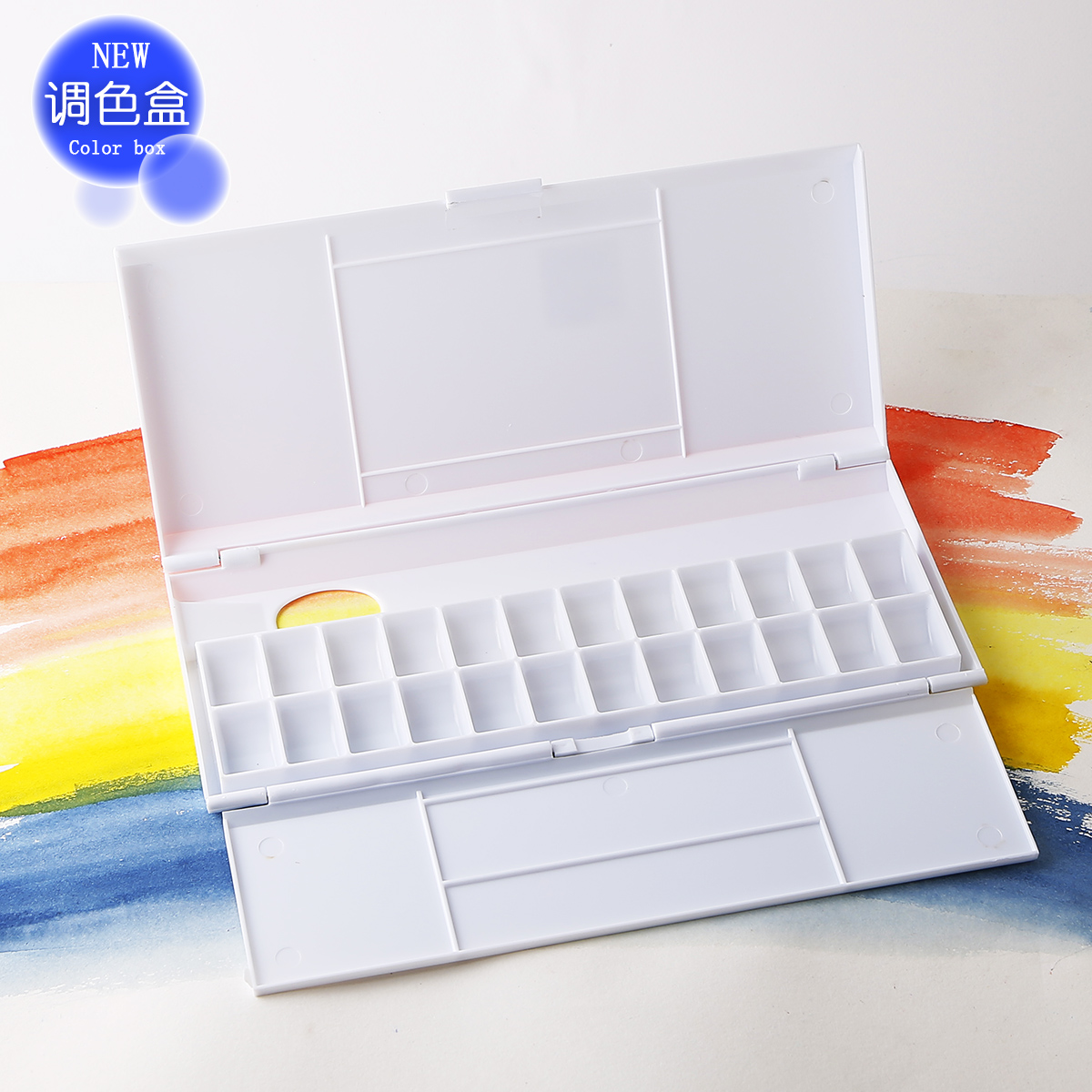 Get Quotations Thousands Of Color Music 24 Grid Plastic Clamshell Folding Folded Hands Paint Palette Watercolor