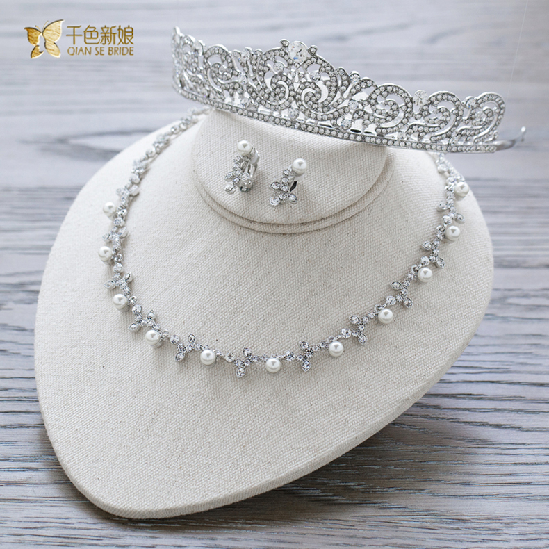 Thousands of colors the bride fly dan bridal jewelry parure korean diamond crown necklace wedding jewelry wedding accessories
