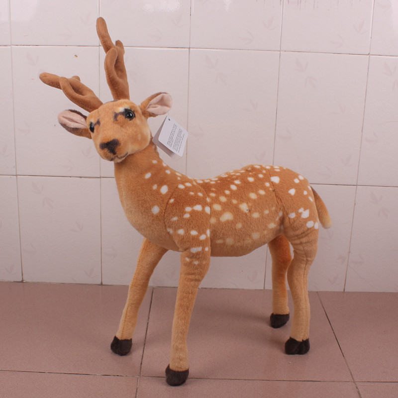 Three-dimensional christmas deer christmas sika deer simulation mall family christmas scene decorative christmas decorations deer ornaments