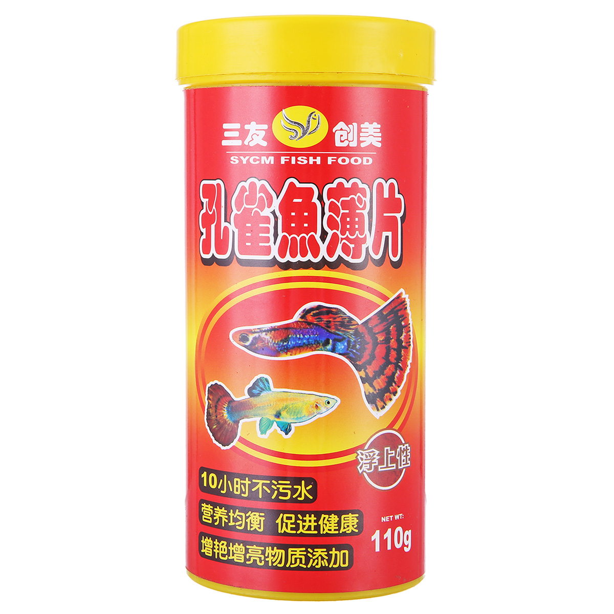 Three friends three yuan pookie network for small and medium-sized tropical ornamental fish food fish food goldfish koi fish feed fish flakes 110g