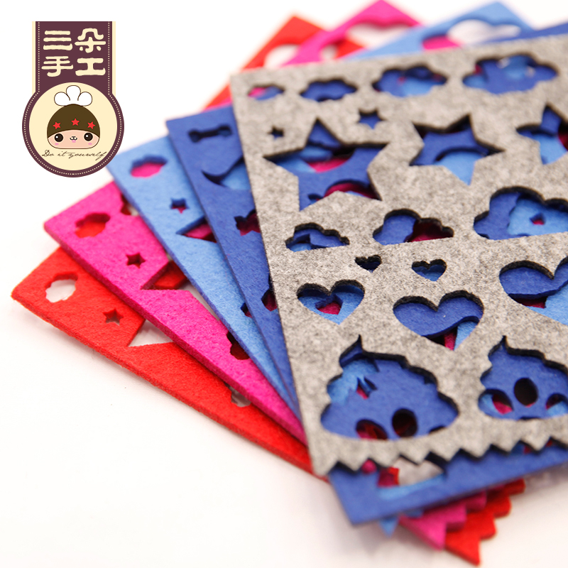 Three novice not weaving template mold template tool sheep blankets wool felt poke fun diy production tool
