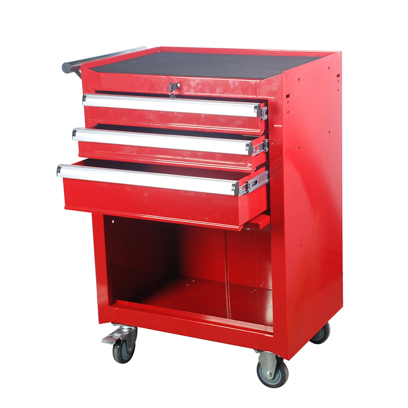 Three removable metal tool cabinet with drawer hardware lockable with a tray parts tool cart tool cart
