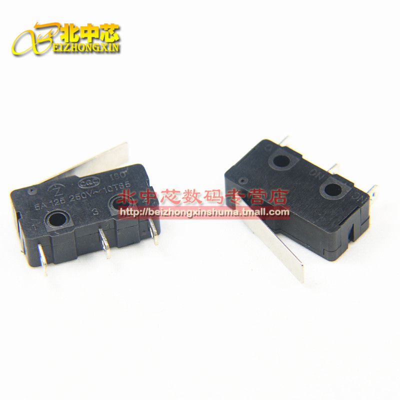 Three straight shank KW11-3Z-2 5a250vac contact switch miniature micro switch limit switch 5