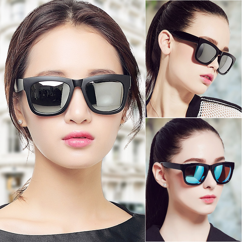 Three's glasses female tide models retro sunglasses polarized sunglasses 2016 sunglasses female tide actress elegant long face For men