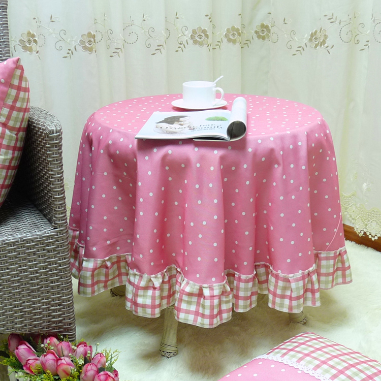 Tian tian can be customized pastoral round tablecloth western hotel tablecloth round coffee table tablecloth tablecloth dining chair sets of taiwan