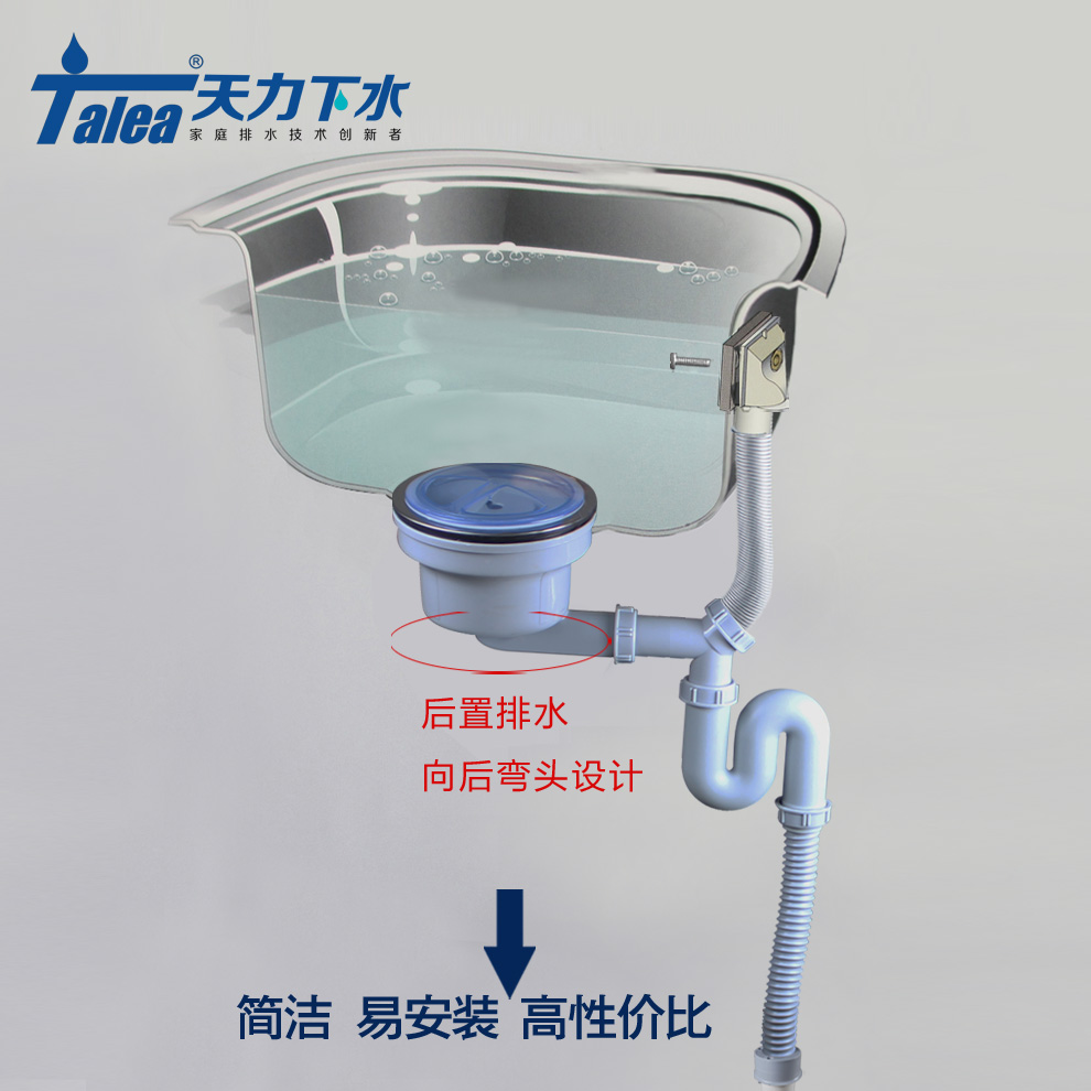 Tianli bathroom sink kitchen sink drainer single bowl sink vegetables basin accessories downspouts Z6007 shipping