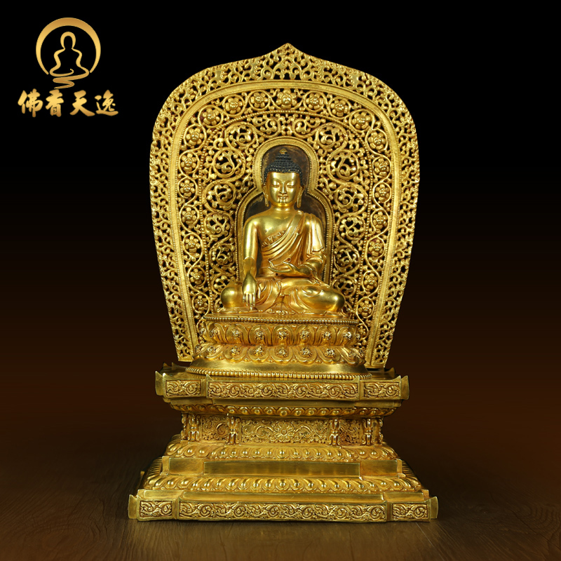 Tianyi buddhist gilt copper buddha sakyamuni buddha statues of buddha ornaments crafts buddha shrines dedicated to