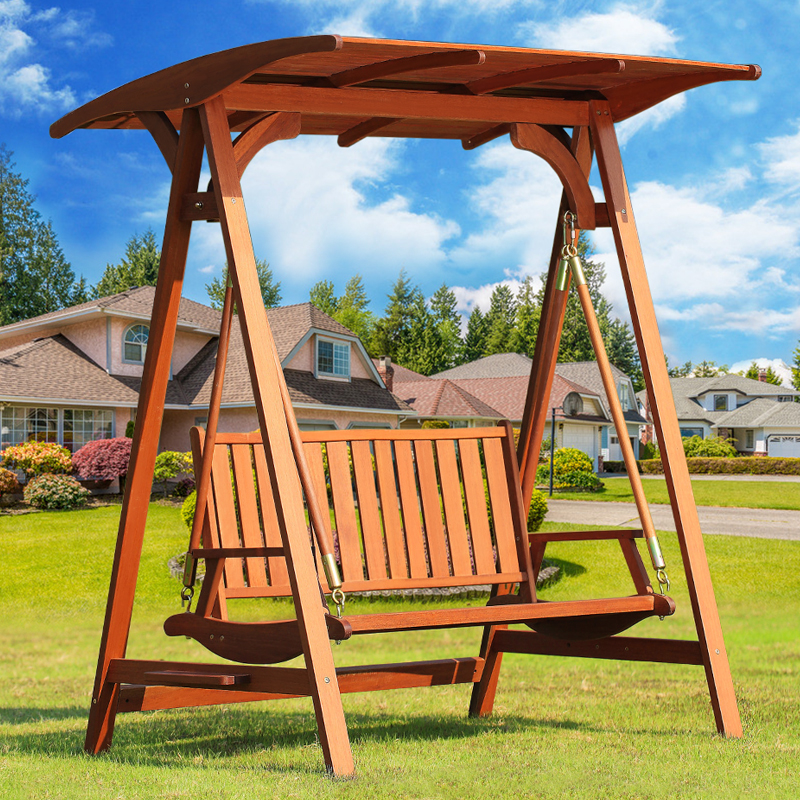 Tianyu into outdoor wood swing double swing hanging chair outdoor leisure basket hanging swing chairs rocking chair wood preservative