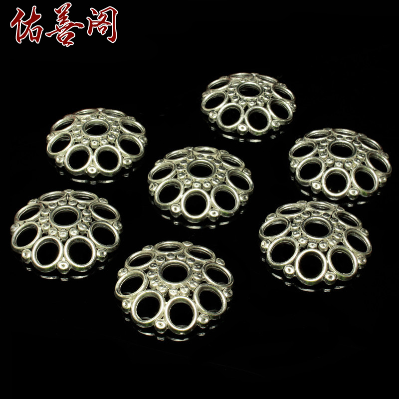 Tibetan silver retro combined gold and silver tibetan silver flower hat tori spacer spacer beads diy gold just bodhi bracelets accessories