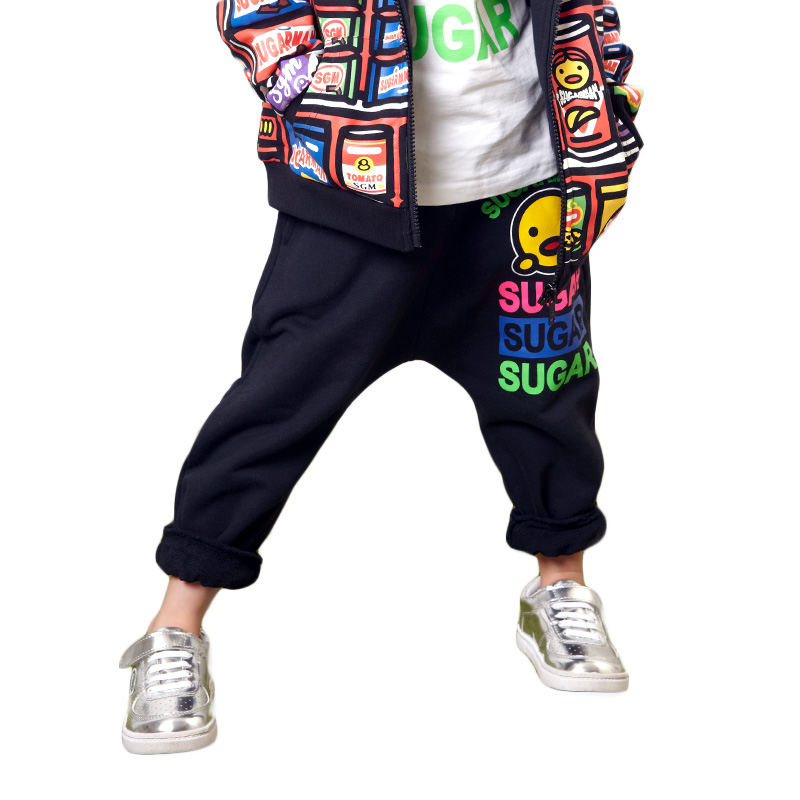 Tide brand sugarman overseas flagship store trousers wild fluorescent color tide brand children's clothing family fitted
